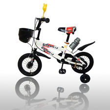 "New 12"" Children Boys Kids Bike Bicycle With Training Wheels Steel Frame"