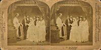 victorian stereoview -  the wedding !