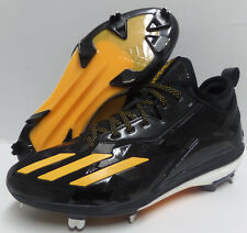 Men's ADIDAS BOOST ICON 2 2.0 METAL BASEBALL CLEATS Black Yellow Size 9.5 Q16523