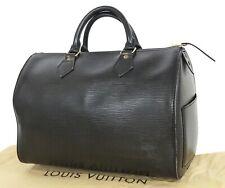 Auth LOUIS VUITTON Speedy 30 Black Epi Leather Boston Hand Bag Purse #12527A
