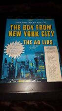 The Ad Libs The Boy From New York City Rare Original Promo Poster Ad Framed!