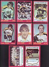 1973 O-Pee-chee Team Lot of 13 Boston BRUINS NM OPC Bobby ORR ESPOSITO HODGE