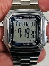 Vintage Mens Casio Stainless Steel Alarm Chronograph Watch A178W Modul 2519 A6