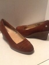 Uggs womens brown suede wedge shoes size 9