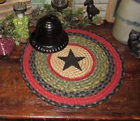 "BARN STAR 100% Natural Braided Jute Swatch, 15"" Trivet Placemat ROUND MAT S238"