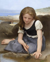 Le Crabe Bouguereau Fine Art Print on Canvas Giclee Reproduction Painting Small