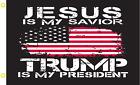 Jesus Is My Savior Trump Is My President 6X10 Flag AMERICAN TRUMP RoughTex® 100D