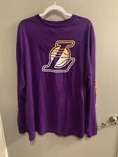 New Men's NBA Fanatics Los Angeles LA Lakers Long Sleeve T-Shirt NWT XXL 2XL