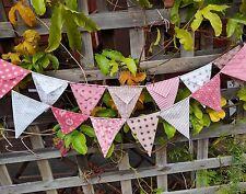 Handmade bunting - pinks and browns baby shower nursery decor