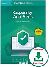 KASPERSKY ANTIVIRUS 2020 1 PC 1 YEAR LICENCE GENUINE + PROXY SERVER