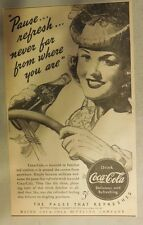 "Coca-Cola ad: ""Pause Refresh"" 1930's ~ 6.5 x 9 inches 1930's"