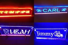 24V Custom LED 500mm Your Name plate Sign Scania Man with DIMMER BlueRed