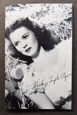 SHIRLEY TEMPLE AGAR facsimile signed Vanguard Studio photo fan postcard