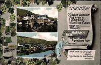 "Reil an der Mosel Color Mehrbildkarte 1965 Hotel Weinhaus Nalbach ""Urkunde"""