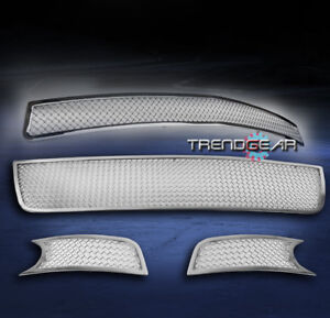 2006-2013 CHEVY IMPALA UPPER+BUMPER+FOG LIGHT STAINLESS STEEL MESH GRILLE GRILL