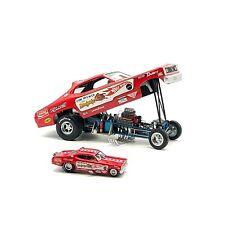 "Hot Wheels Legends Tom McEwen Diecast ""Mongoose"" Duster 2 Car Set 1:24 & 1:64"