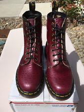 90's Vintage Dr Martens US 6 Purple snake crocodile 8-eye boot 1460 shoe doc uk4