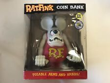 Excellent! RAT FINK Piggy Coin Bank Plush Doll Figure Toy 480 Limited 12inch