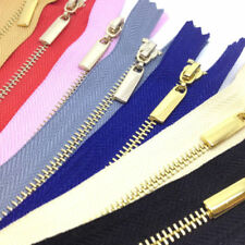 Metal-Yellow Brass Element/Teeth Polyester Tape Sewing Zips Zip
