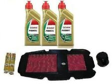 MGM REPLACEMENT KIT HONDA TRANSALP 650 OIL CASTROL POWER 1 OIL FILTER AIR CAND