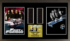 Fast And Furious 4 GENUINE 2 strip film cell style display 16 x 8 FRAMED