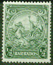 BARBADOS  – 1938  – HALF PENNY – VF  **