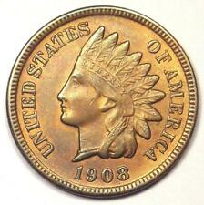 1908-S Indian Cent Penny 1C - Uncirculated Details (UNC MS) - Rare Coin!