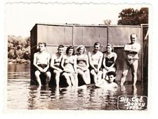1956 Handsome nude men women bathing on the beach old Soviet Russian photo