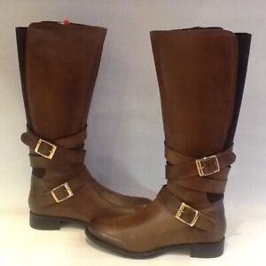 RAVEL Hawaii Leather Knee High Equestrian Style Boots UK Size 6 New