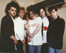 The Cure original 1980's press photo smiling back stage