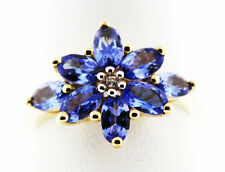 Item #95 Tanzanite AAA  & Ratanakiri Zircon 10K Gold Ring Size 7