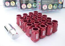 ROSSO * d1-Spec * Heptagon Lug Nuts 40mm m12 x 1.25 Dadi Ruota Cerchi Castello