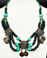 Vintage Antique Egyptian Revival/Art Nouveau/Victorian/Mayan/Statement Necklace