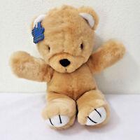"Vintage Applause 1988 Teddy Bear 12"" Tan Plush Stuffed Wallace Berrie Korea"