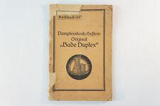 Kochbuch 15f Dampfbad oder Wasserbad Bade Duplex 1950 60er Jahre vintage B5798