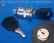 Flush Mount 12 Volt Dc On Amp Off Lock 2 Key Round Toggle Switch 2 Pin