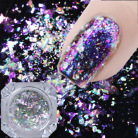 0.1g Chameleon Holographic Nail Sequins Mirror Powder Glitter Flakes Born Pretty