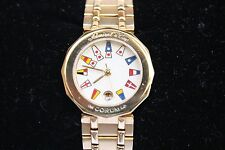 MAGNIFICENT 18K CORUM ADMIRAL CUP LADIES WATER RESISTANT SWISS QUARTZ WATCH