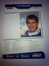 CP POSTCARD CARTOLINA PORSCHE 911 ROUILLARD RALLY RALLYE WRC 2012
