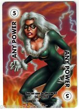 Black Cat Marvel Overpower CCG promo card