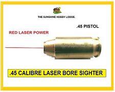 Calibre .45 Bore Sight Laser Boresighter Laser Rouge .45 en laiton cartouche Nouveau UK
