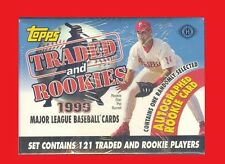 1999 Topps Traded & Rookies MLB Baseball Factory Set 121 Cards 1 Auto RC