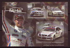 GUERNSEY 2008 ANDY PRIAULX TORING CAR MINIATURE SHEET MOUNTED MINT.