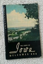 Vtg the State of Iowa IA Welcomes You Booklet circa 1939-1943 Gov. George Wilson