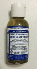 New Dr. Bronner's 18-in-1 Hemp Peppermint Organic Pure-Castile Soap 2 oz.