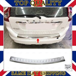 Chrome Rear Bumper Protector S.STEEL For Volvo XC60 XC-60 Facelift 2014 to 2017
