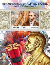 Sierra Leona 2017 estampillada sin montar o nunca montada Alfred Nobel 150th dinamita 1 V s/s Sellos De Ciencia