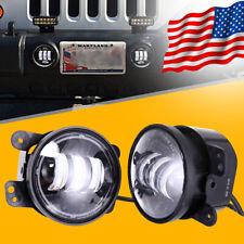 Pair Led Fog Lights Driving Lamps for Jeep Wrangler 97-17 Jk Tj Lj Car Headlight
