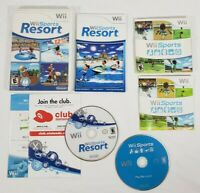 Wii Sports and Wii Sports Resort (Wii, 2006) both Tested & Working