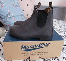 Blundstone boots grey nubuck, elastic sided V cut, UK 6 / EU 39 - Toast